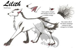 Lilith Wolf form Ref Sheet by KTdragon