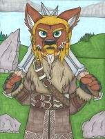 Fili the Maned Wolf by LordFenrir
