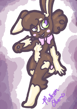 Cocoa the bunny by toby123zombie