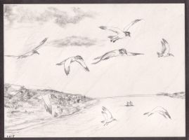 Freedom (painting concept) - quick sketch by sanntta82