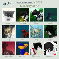 .:Art summary of 2012:. by Down-to-2nd-reality