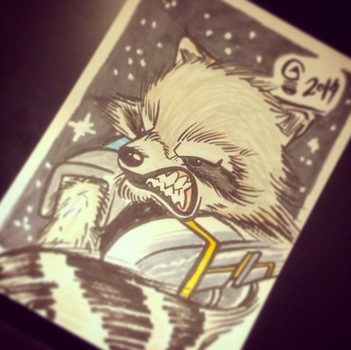 Rocket Racoon Card by Italiux