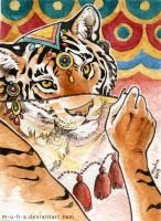 ACEO Tiger by m-u-h-a