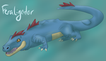 Tumblr POKEDDEX Day 11 - Feraligatr by Pamuya-Blucat