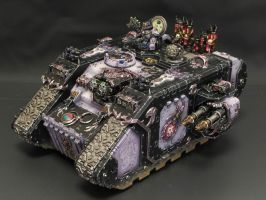Slaanesh Emperor's children Land Raider by daouide
