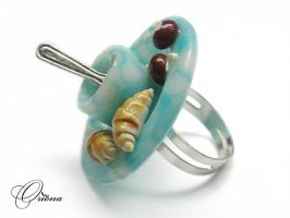 Ring 'Morning Coffee' 2 by OrionaJewelry