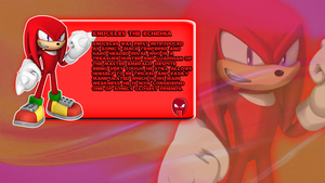 Knuckles The Echidna Character Bio by CosmicBlaster97