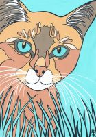 Colour By Numbers Kitty Updated by essencestudios
