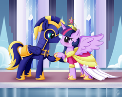 .:MLP Commission Zephyr and Twilight:. by Exceru-Hensggott