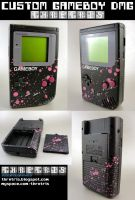 Custom Painted Black Gameboy by Thretris
