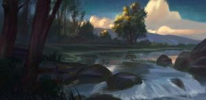 Creekside by NathanParkArt