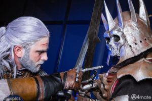 Geralt of the rivia VS wild hunt king by Zephon-cos