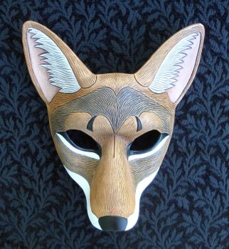Leather Coyote Mask 2010 by merimask