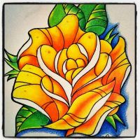 Rose tattoo design by andyotter88