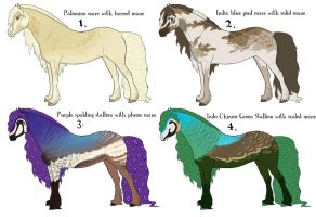 Peafowl Friesian Adoptables CLOSED by sateenkaarisitruuna