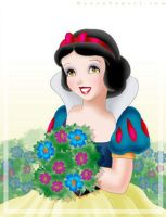 Snow White Gathering Flowers by manony