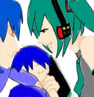 Miku and kaito's family by SweetKitty999