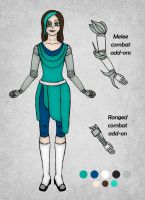 Outfit and Weapon Design - Annah Lia by Ninelyn