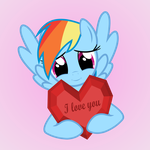Rainbow Dash loves you by GAlekz