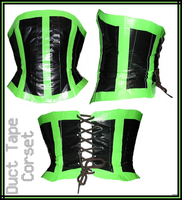 Green n Black Duct Tape Corset by Tweenie188