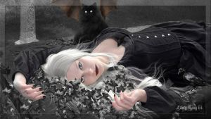 THE CHARM OF GOTH WOMAN 2 Desktop Version1920x1080 by FABRYKING61