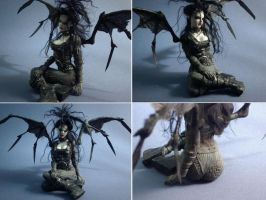 ooak fairy goth the bride by spectrestudios