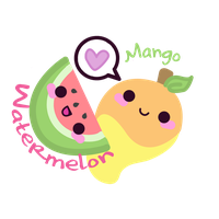 Watermelon Mango Store Logo by kittykatklub1