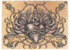 sacred heart by DLXONE