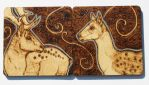 Pyrography - His and Her deer coasters by BumbleBeeFairy