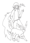 Pokemon Trainer - Nupryn and Umbreon (WIP) by Enyo-sama