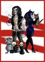 Lobo and Catwoman Commission by TracyLeeQuinn