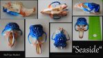 Seaside- Painted Muskrat Skull by animalartist16