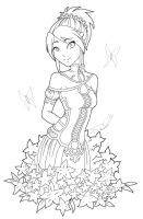 Flower Girl - Aeoleah by angelnablackrobe