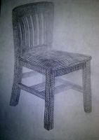Chair - Cross Countor by Smooth-as-Sandpaper