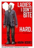 Rob Corddry 'M' 'Warm Bodies' poster 2013 by Keymagination