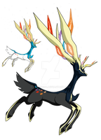 716 - Xerneas (Active Forme) - Art v.4 by Tails19950