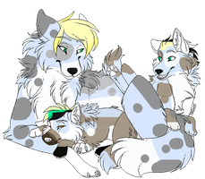 Luka and Minu's Pups Adoption ::Closed:: by XxTsunamiRavenxX