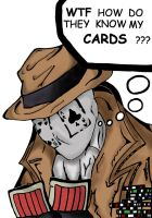 Rorschach plays Poker coloured by icemouth