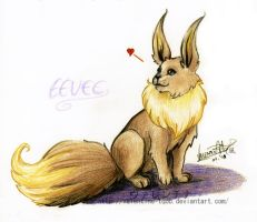 Eevee loves you by Valentine-tQoB