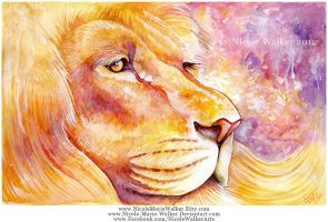 Golden Lion by Nicole-Marie-Walker