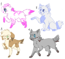 Doggie Adoptables-- by callikat
