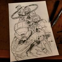 Halo Generations pencils by MassoArt