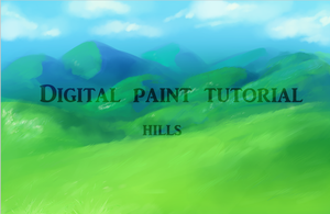 Background Tutorial: Hills (Digital Painting) by twin-tail