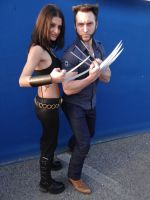 X-23 and Wolverine - Mantova Comics 2014 by Groucho91