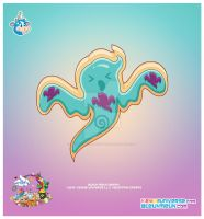 Kawaii Ghost Sugar Cookie by KawaiiUniverseStudio