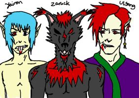 Yairon, Zaruck and Ulfang by SephirothMichaelis