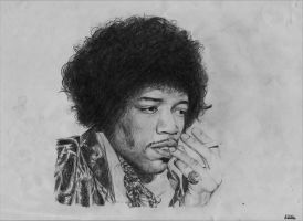 Jimi Hendrix by epilogues