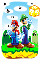 Super Mario Bros by HeroArt110