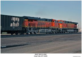BNSF 6620 and 4046 by hunter1828