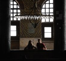 Two visitors in Ayasofya by TanBekdemir